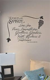 Amazon Com Js Artworks The Fruit Of The Spirit Is Love Joy Peace Vinyl Wall Art Decal Sticker Home Kitchen