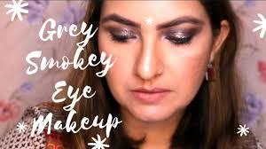 grey smokey eyes makeup tutorial how