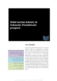 pdf halal tourism industry in potential and prospects