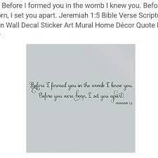Wall Art Wall Decal Baby Decor Bible Scripture Poshmark