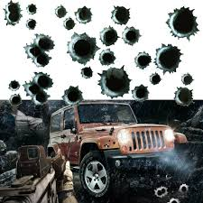 Car Side Stickers Funny Decal Bullet Hole Shootings Gunfire Auto Motorcycle 3d For Sale Online Ebay
