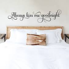 Always Kiss Me Goodnight Wall Decal Sticker Decor Decals Market
