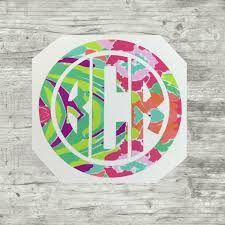 Vinyl Monogrammed Decals Monograms Monogram Decal Water Bottle Decals Computer Decal Iphone Decal Lill Monogram Vinyl Decal Monogram Decal Vinyl Monogram