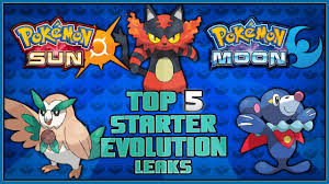 Top 5 Leaked Starter Pokémon Evolutions for Pokémon Sun and ...