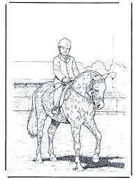 Dressuur Kleurplaten Paarden