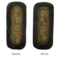 ogham set of 2 wall hangings totally