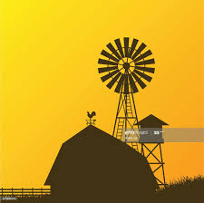 Farm Windmill Barn Fence House Field High Res Vector Graphic Getty Images