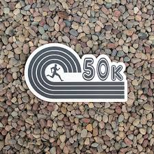 50k Running Sticker Custom Ultramarathon 50k Runner Sticker