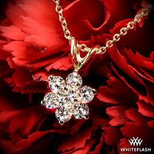 flower cer diamond pendant 696