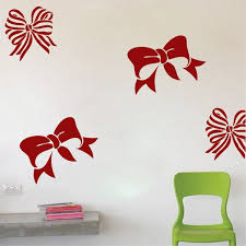 Bow Wall Decals Trendy Wall Designs Wall Decals Wall Design Christmas Wall Decor