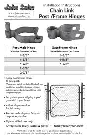 2 3 8 Chain Link Fence Gate Post Hinge Use For 2 3 8 Outside Diameter Post Pipe Galvanized Chain Link Post Gate Hinge Nut Bolt Inc