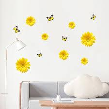 1 Set Daisy Flower Vinyl Decal Mural Diy 3d Wall Stickers Window Decor Bedroom Wall Decals Stickers Home Furniture Diy Plastpath Com Br