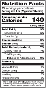 calories in one bag of tortilla chips
