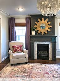 living room fireplace color white or