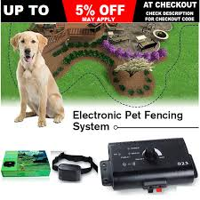 Electronic Dog Fence System Invisible Electric Wireless Pet Containment Collar 9350062012345 Ebay