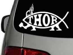 Thor Fish Pagan Nordic Vinyl Decal Car Wall Truck Sticker Choose Size Color Ebay
