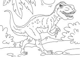 Kleurplaat Dinosaurus Tyrannosaurus Rex Gratis Kleurplaten Om