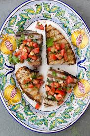 Grilled Tuna Steak with Fresh Tomato ...