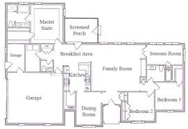single story ranch style house plans