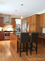 a beautiful wood and granite kitchen design