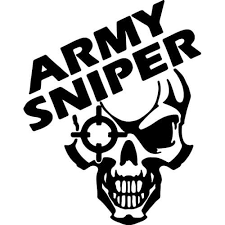 Army Sniper Decal Sticker Army Sniper Decal Thriftysigns
