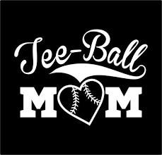 Tee Ball Mom Car Vinyl Decal Sticker Etsy