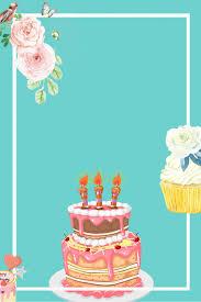 كيك الحلوى عيد ميلاد حفلة ملصق المواد الاساسية أزرق كيك ديم سوم