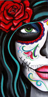 Green Eyes, Day of the Dead Art by Melody Smith | Skull art, Drawings,  Canvas art prints
