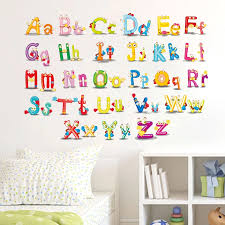Abc English Alphabet Wall Stickers Vinyl Removable Colorful Mural Alphabet Decals For Kids Rooms Nursery Wall Art Diy Home Decor Alphabet Decal Diy Home Decorenglish Alphabet Aliexpress