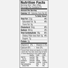granola bar nutrition label ytccio