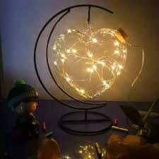 night light lucky star glass cork