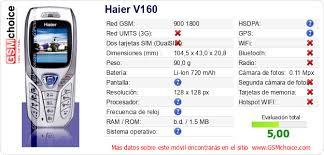 Haier V160 Datos técnicos del móvil ...