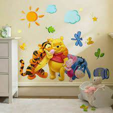 3pc Winnie The Pooh Nursery Room Wall Decal Decor Stickers Kids Baby Bedroom Us For Sale Online Ebay