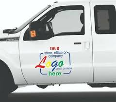Car Truck Set Of 2 Door Personalized Color Sticker Decal With Your Logo Ebay