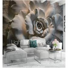 ورد الفني 3d تصميم ديكور المنزل كلاسيكي الحديث تغليف الجدران كنفا