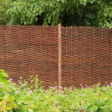 Willow Brown Garden Screen H 1 8m W 1 8m Pack Of 3 In 2020 Decorative Fence Panels Willow Fence Cheap Fence Panels