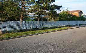 Install Vinyl Lattice Over Chain Link Fence For Appearance And Privacy Lattice Fence Chain Link Fence Fence Decor