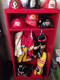Kids Firefighter Gear Locker Fireman Room Firefighter Room Firefighter Bedroom