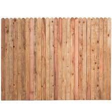 Unbranded 6 Ft H X 8 Ft W Construction Common Redwood Dog Ear Fence Panel 01728 The Home Depot