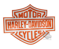 Cg46015 Harley Davidson Orange B S Logo Cutz Rear Window Graphic Decal Barnett Harley Davidson