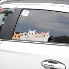 Dsycar 2pcs Lot Lovely Dog Cat Car Sticker Pvc Decal Stickers Waterproof Car Styling Pet Decals For Wall Home Glass Window Door Buy At The Price Of 1 65 In Aliexpress Com Imall Com
