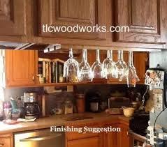 under cabinet or shelf wine glass rack