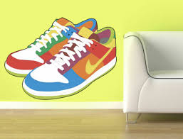 Ced387 Full Color Wall Decal Sticker Sneakers Shoes Bedroom Kids Nursery Home Garden Decor Decals Stickers Vinyl Art