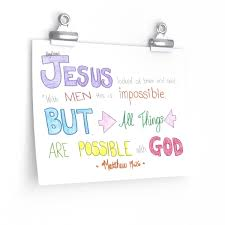 All Thing Are Possible With God Matthew 19 26 Wall Art Micah Kerry Mitchell