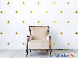 Fleur De Lis Pattern Mini Wall Decals Graphic Vinyl Sticker Bedroom Wall Home Decor