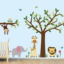 Jungle Decals Jungle Animal Stickers For Kids Room Evergreen Eleuterio Oniodas