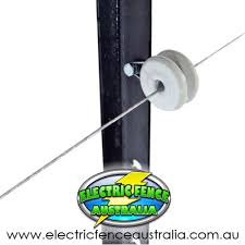 Nemtek 10 X Picket Insulator Clip Porcelain Fastener Electric Fence Australia