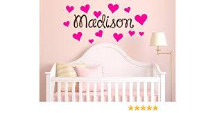 Amazon Com Hearts Custom Name Wall Decal Girls Name Decals Heart Decals Wall Decals Girls Hearts Princess Decals Nursery Decals Girls Name Stickers Arts Crafts Sewing
