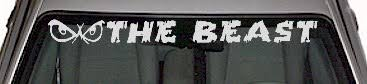 Wsd307 The Beast Windshield Decal Edecals Com