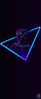 black panther neon wallpapers